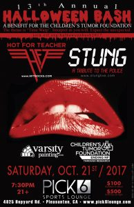 HOT FOR TEACHER - Halloween Fundraiser - 10/21/17