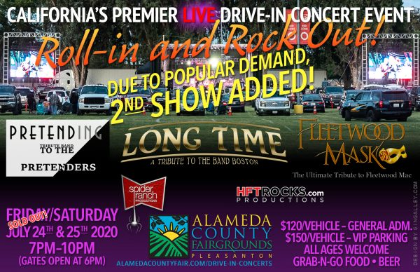 "California's Premier ""Live"" Drive-in Concert Event - Alameda County Fairgrounds - July 25, 2020"