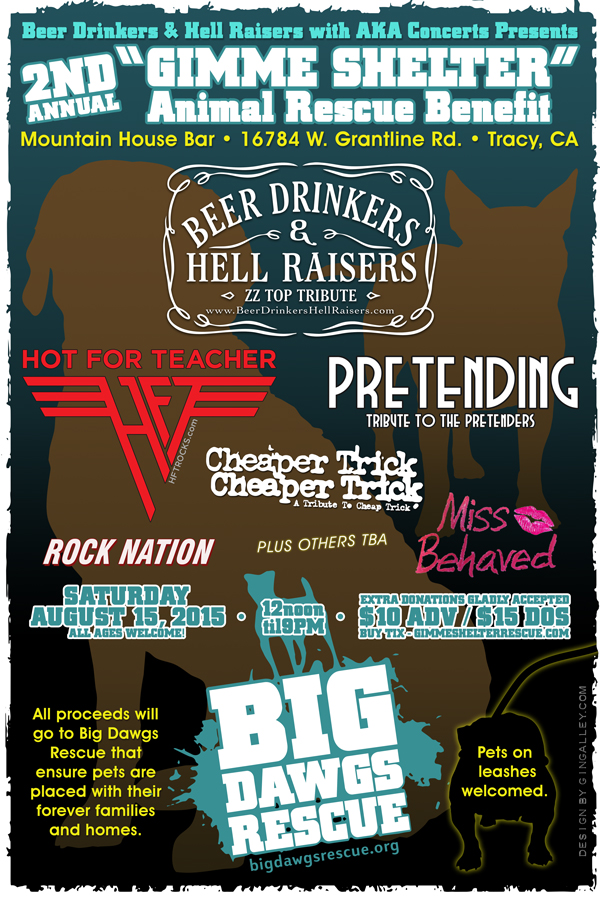 Gimme Shelter - Animal Rescue Benefit - 8/15/15