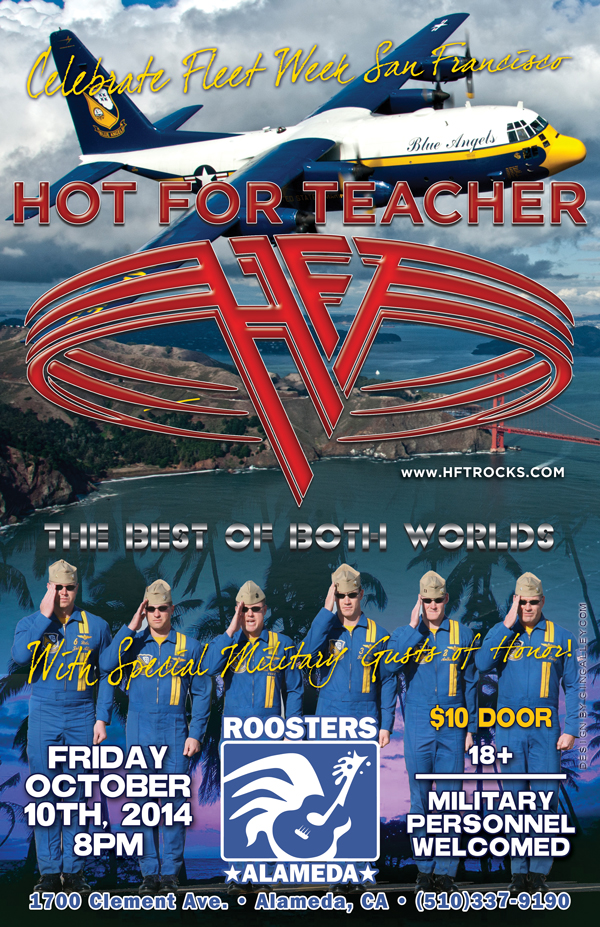 HOT FOR TEACHER at Rooster's Roadhouse - 10/10/14