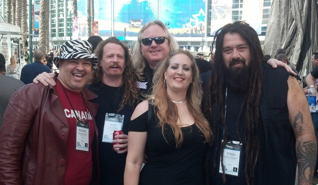 Randy Monroe with Brooks Lundy, Jack Gison (Exodus), Steev (Defiance/Skinlab/Dedvolt) & Alison Esquival