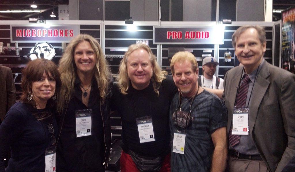 Randy Monroe with John & Tobi Nady, Brad Gillis & Joel Hoekstra (Night Ranger)