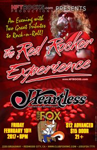 The Red Rocker Experience at Club Fox - 2/10/17