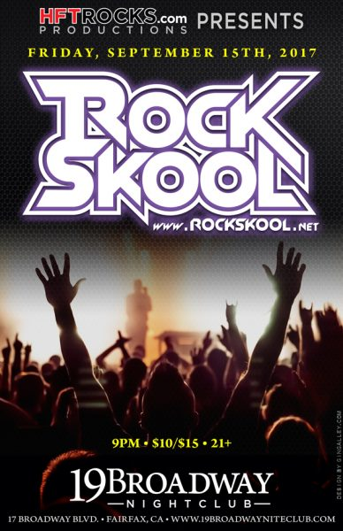 RockSkool @19 Broadway - 9/15/17